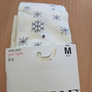 HUE Accessories - 🎁 Size 8/10 NEW Snowflake sweater tights